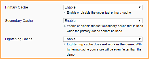 Cache levels