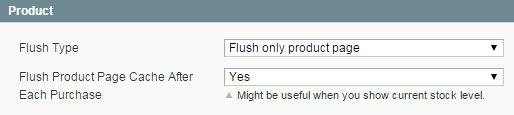 Auto-flush product pages cache